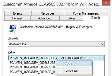 Qualcomm Atheros device for Atheros
